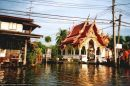 A temple viewed from a boat trip down the Chao Phraya R