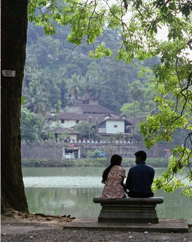 By the Tank, Kandy, Sri Lanka