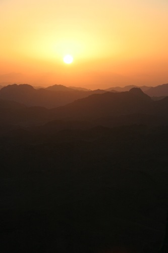 Sunrise over Mount Sinai, Egypt